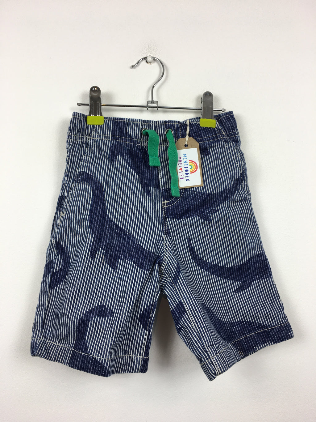 Nessie Print Blue Stripy Shorts (3 Years)
