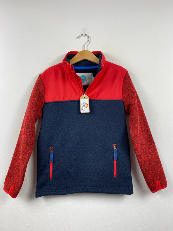Navy & Red Cosy Half Zip Jumper (6-7 Years)