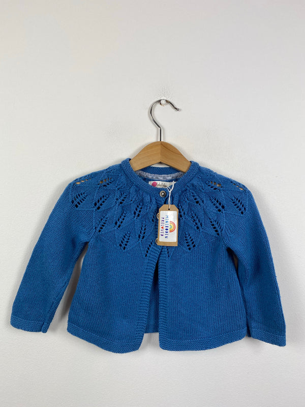 Blue Knitted Occasion Cardigan (6-12 Months)