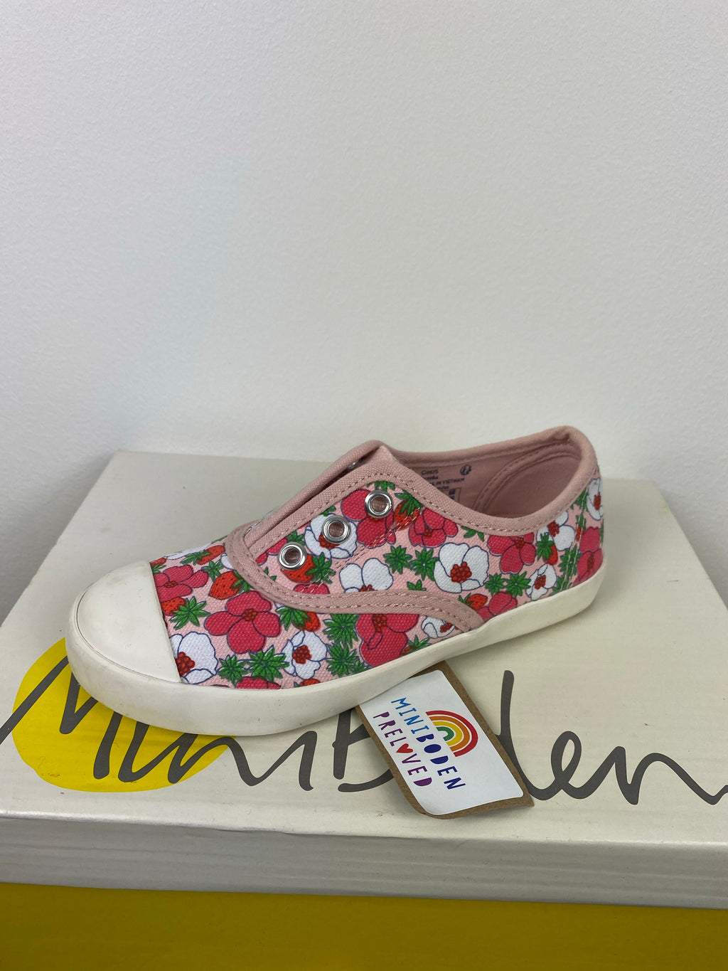 Pink Floral Canvas Shoes (Infant Size 28)