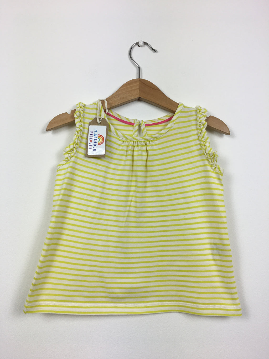 Yellow Stripy Ruffle Vest Top (2-3 Years)