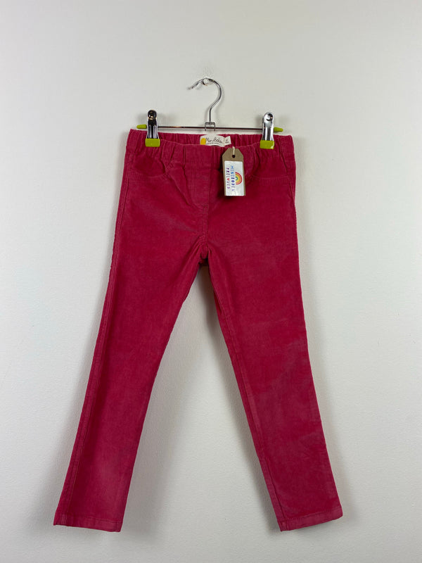 Raspberry Cord Skinny Trousers (6 Years)