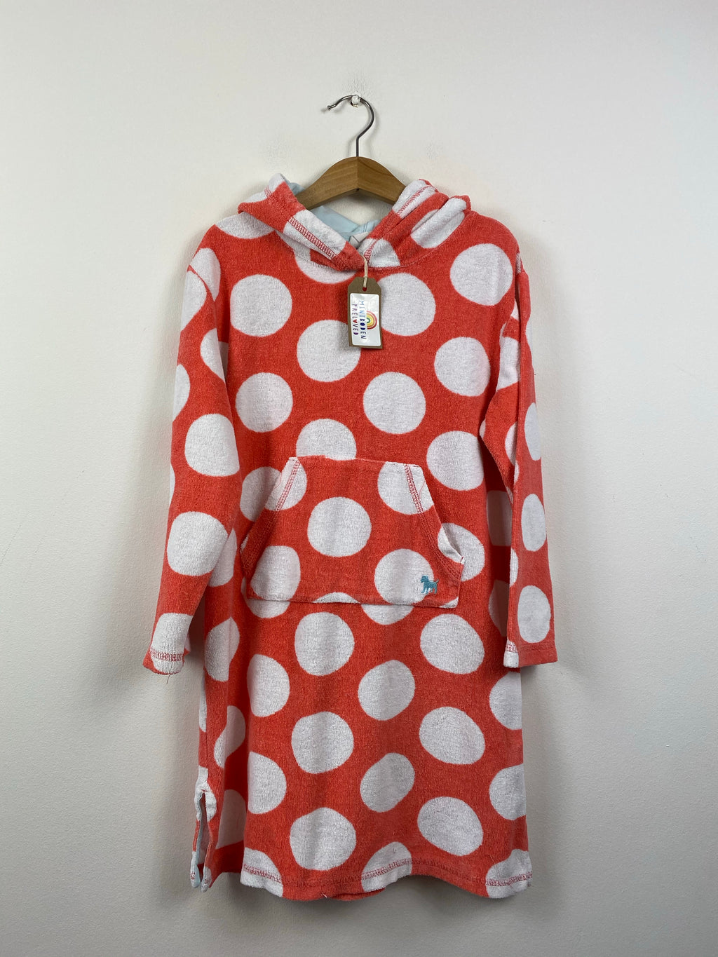 Spotty Coral Towelling Cover Up (7-8 Years)