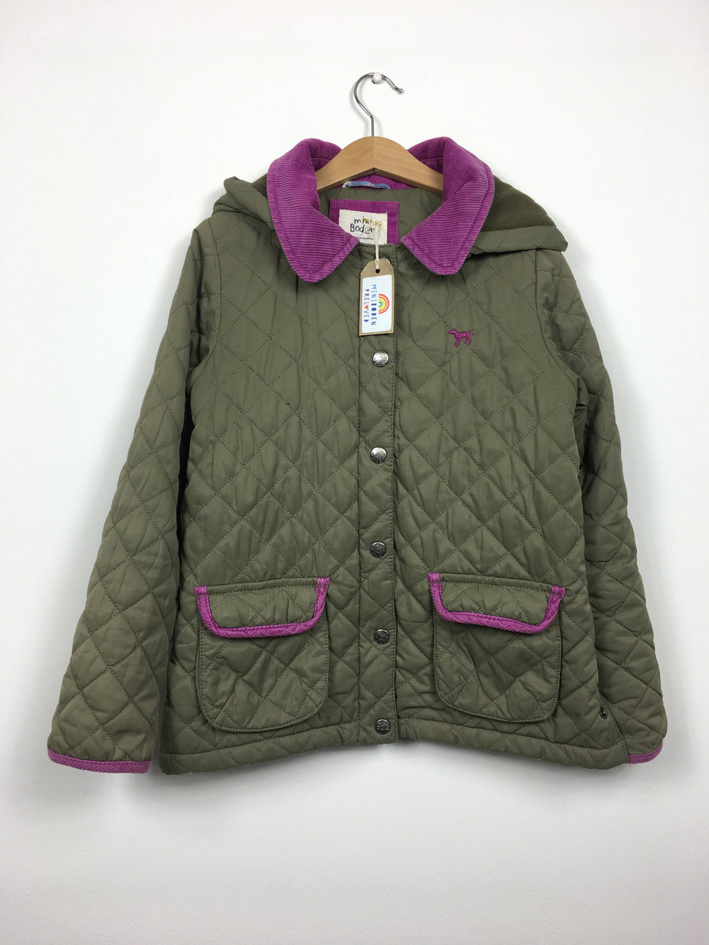 Green Quilted Fleece Lined Jacket (9-10 Years)