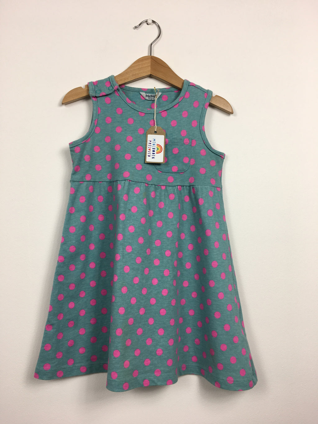 Green Dress With Pink Spots (2-3 Years)