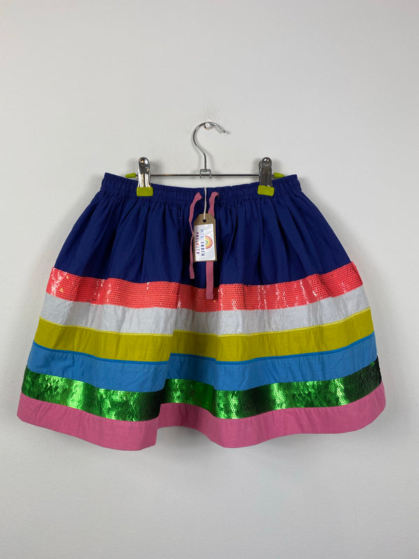 Fabulous Sequin Rainbow Navy Skirt (9-10 Years)
