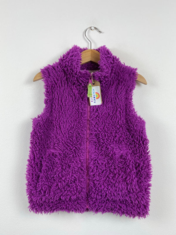 Vibrant Purple Shaggy Gilet (2-3 Years)