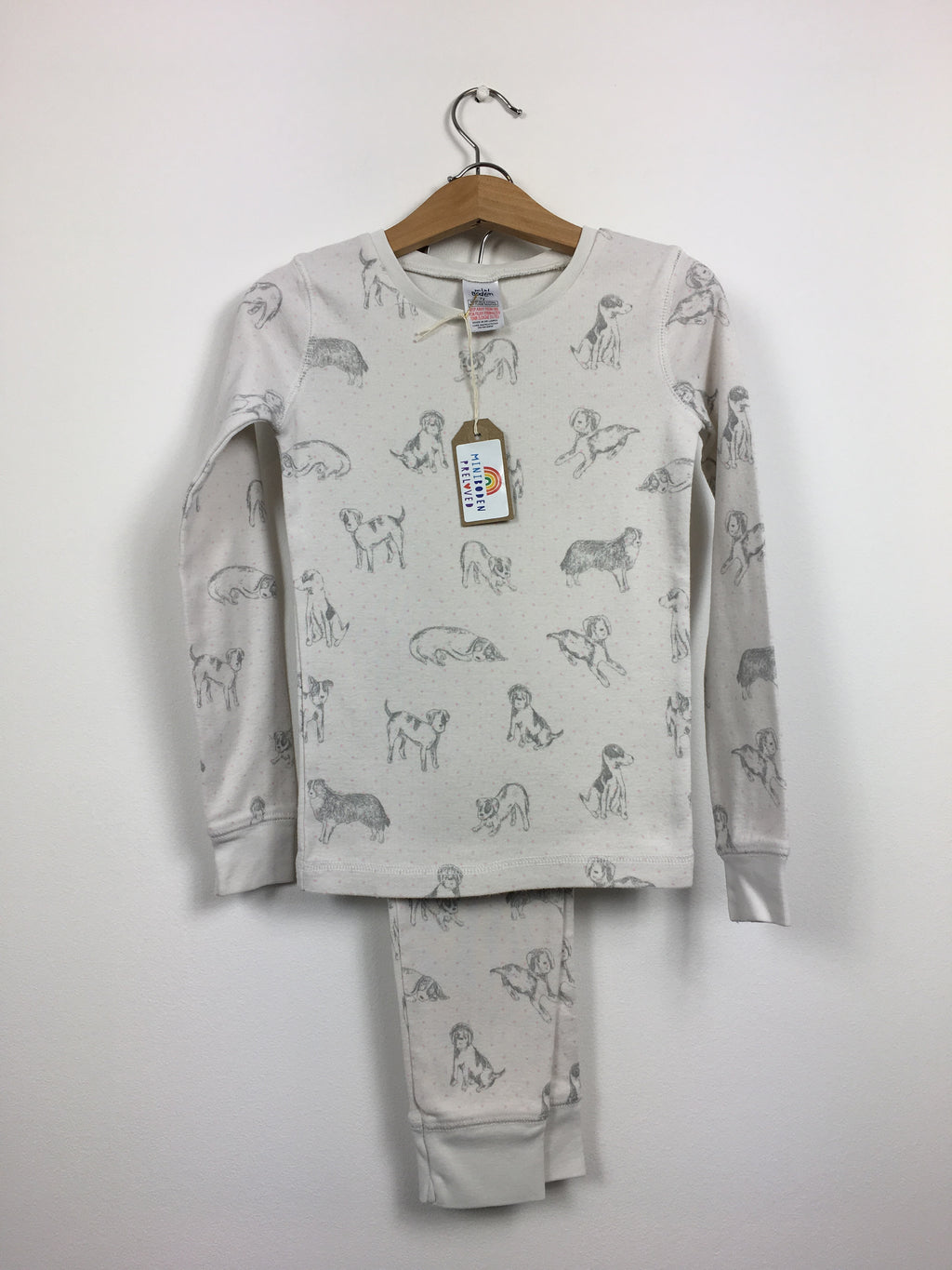 Dog Print Cream Pyjamas (8 Years)