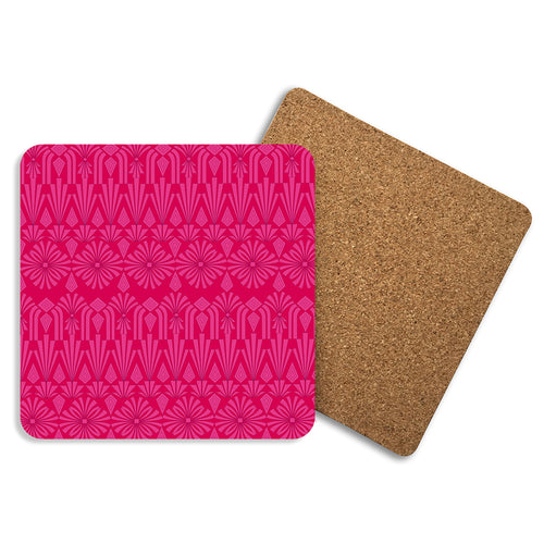 Art Deco In Pink - Coasters - Art By Catherine Davis