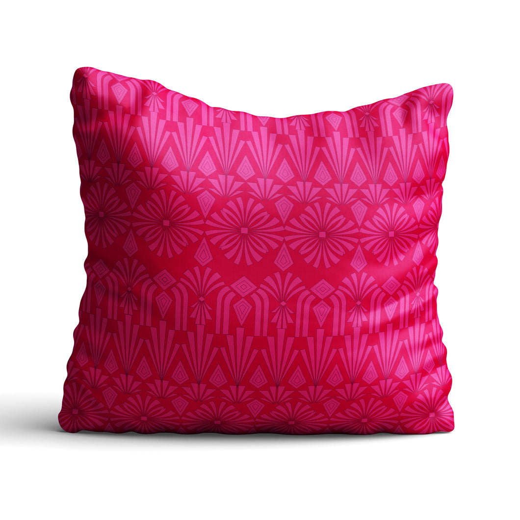 Art Deco In Pink - Cushion - Art By Catherine Davis