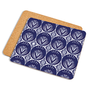 Art Nouveau In Dark Blue - Placemat - Art By Catherine Davis