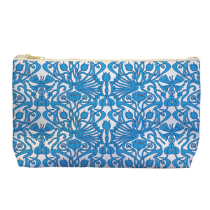 Art Nouveau in Blue - Cosmetic Bag - Art By Catherine Davis