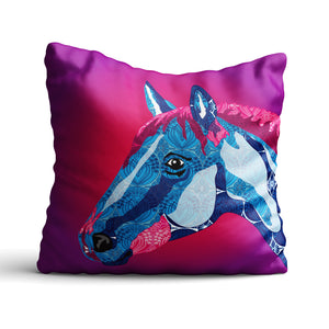 Horse - Cushion - Art By Catherine Davis