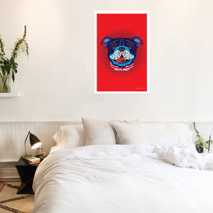 Billy The Bulldog - Poster - Art By Catherine Davis