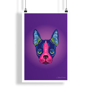 Boston Terrier - Poster - Art By Catherine Davis