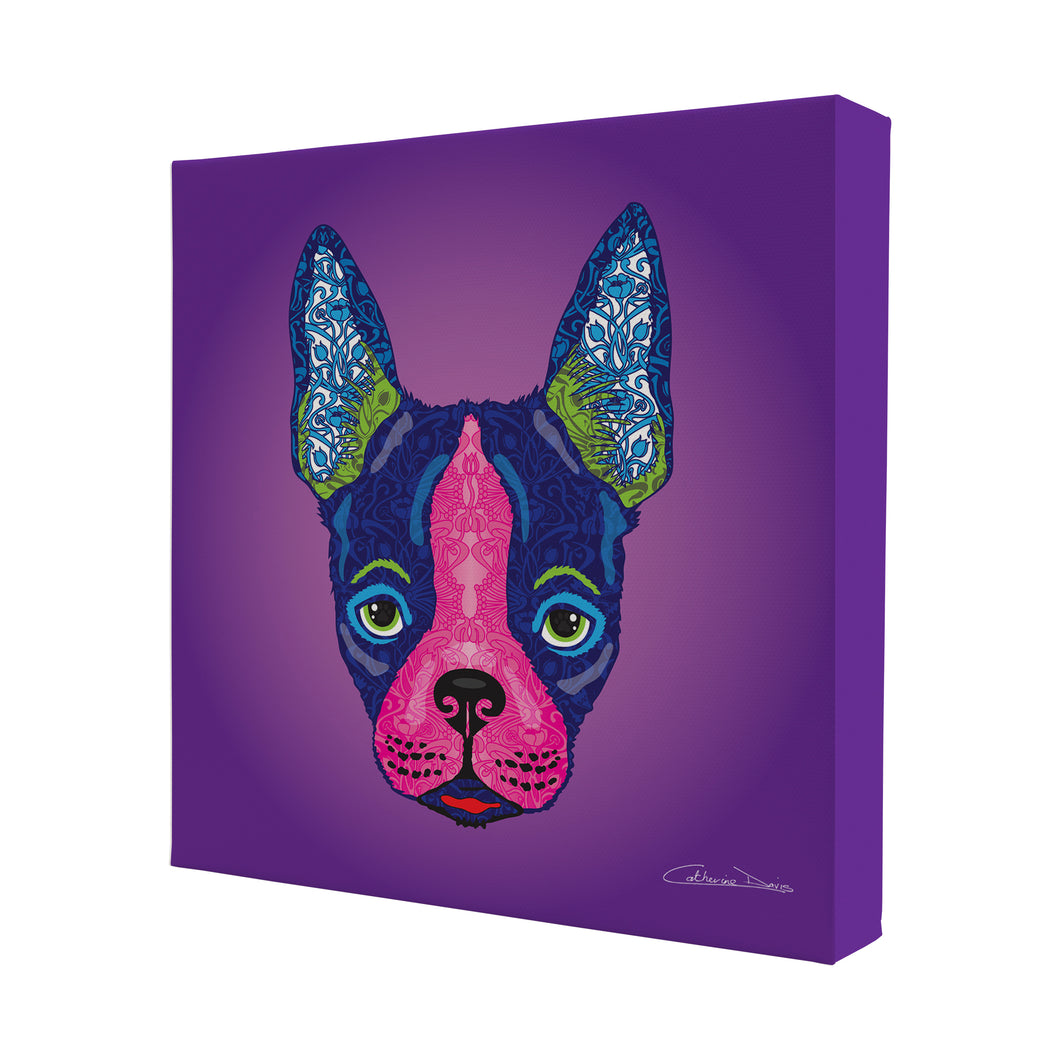 Boston Terrier - Mini Canvas - Art By Catherine Davis