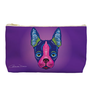 Boston Terrier - Cosmetic Bag - Art By Catherine Davis