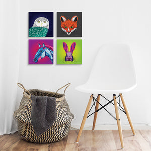 Fox - Mini Canvas - Art By Catherine Davis