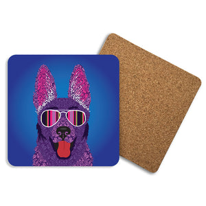 Alsatian - Coasters - Art By Catherine Davis