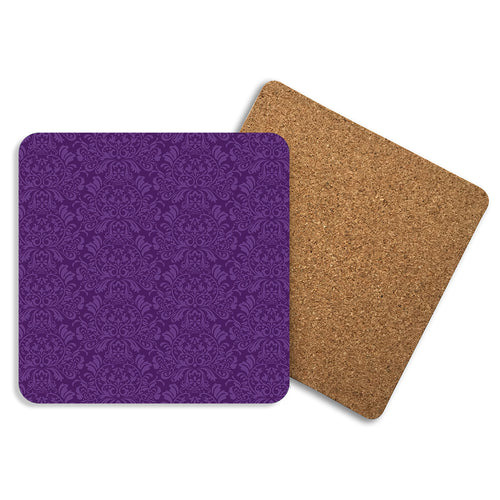 Brocade In Purple - Coasters - Art By Catherine Davis