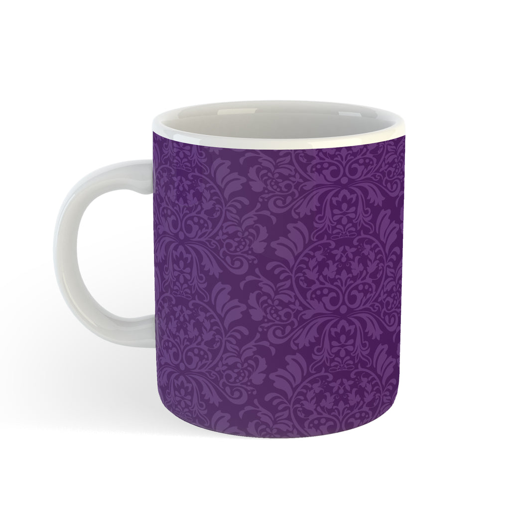 Brocade In Purple - Mug - Art By Catherine Davis