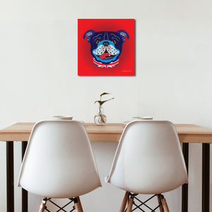 Billy Bulldog - Premium Canvas - Art By Catherine Davis