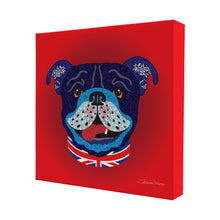 Billy Bulldog - Mini Canvas - Art By Catherine Davis