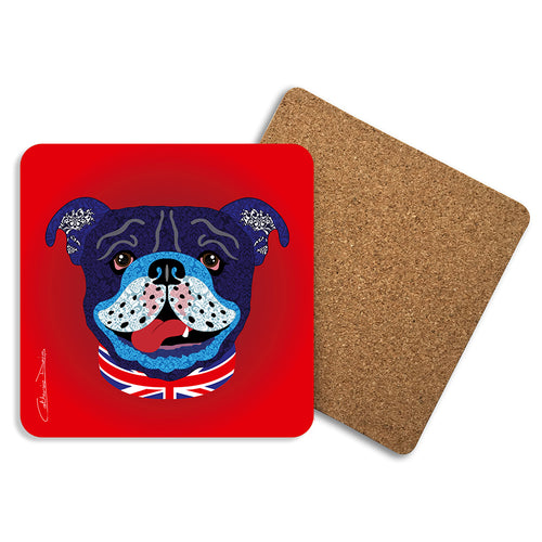 Billy The Bulldog - Coasters - Art By Catherine Davis