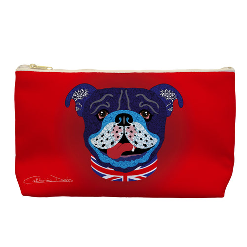 Billy The Bulldog - Cosmetic Bag - Art By Catherine Davis