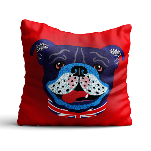Billy The Bulldog - Cushion - Art By Catherine Davis