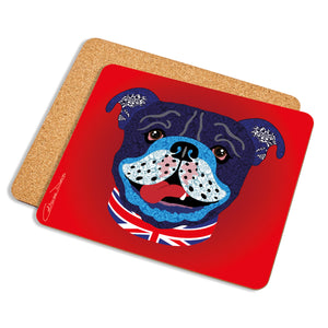 Billy The Bulldog - Placemat - Art By Catherine Davis