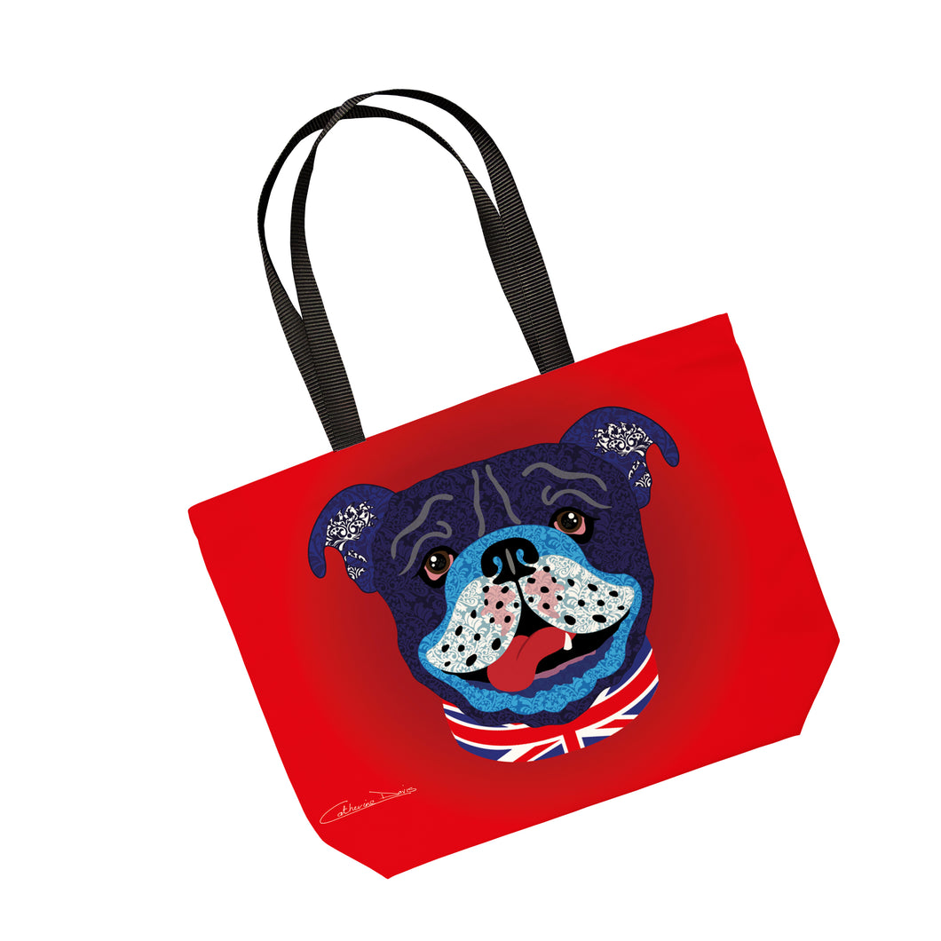 Billy The Bulldog - Tote Bag - Art By Catherine Davis