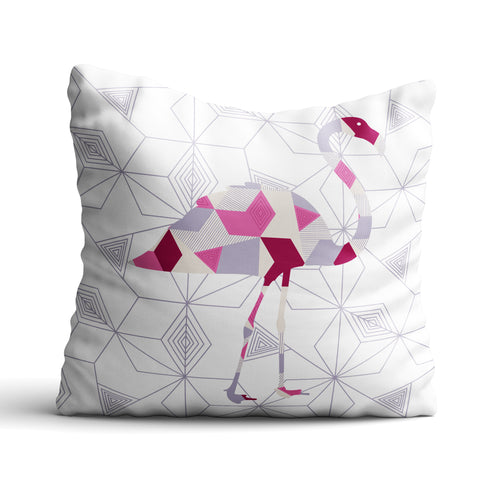Flamingo Geomal - Cushion - Art By Catherine Davis