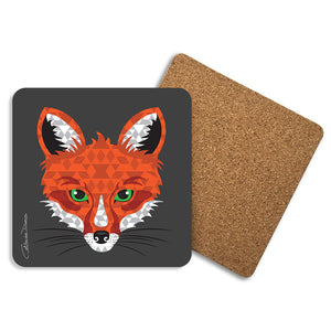 Fox - Coasters - Art By Catherine Davis