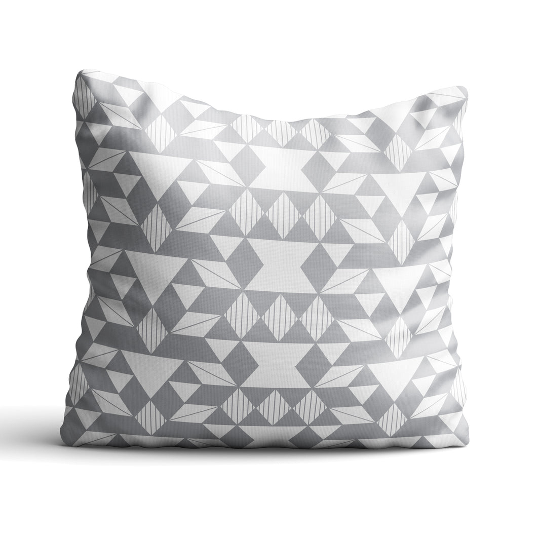 Geo In Grey - Cushion - Art By Catherine Davis