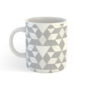 Geo In Grey - Mug - Art By Catherine Davis