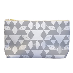 Geo In Grey - Cosmetic Bag - Art By Catherine Davis