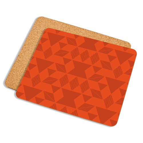 Geo In Orange - Placemat - Art By Catherine Davis
