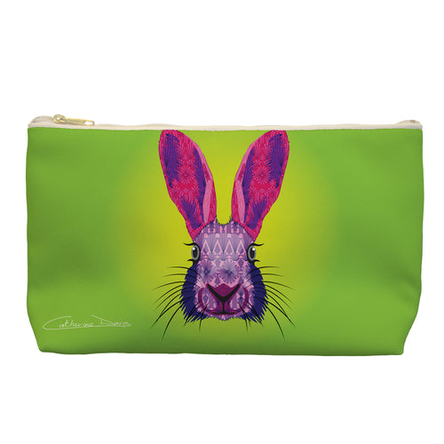 Hare - Cosmetic Bag - Art By Catherine Davis