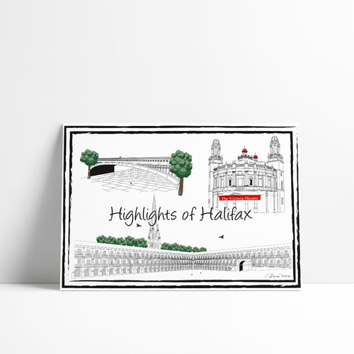 Highlights of Halifax 'Collection 1' - A4 Art Print - Art By Catherine Davis