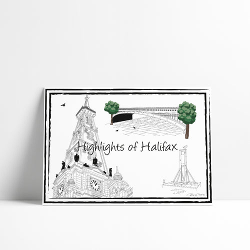 Highlights of Halifax 'Collection 2' - A4 Art Print - Art By Catherine Davis