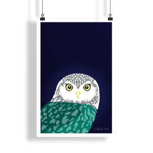 Owl - Poster - Art By Catherine Davis