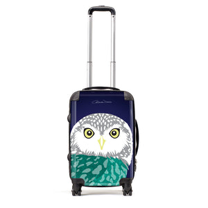 Owl - Suitcases - Art By Catherine Davis