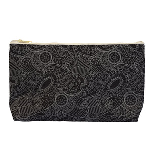 Paisley In Black - Cosmetic Bag - Art By Catherine Davis