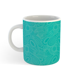 Paisley In Teal - Mug - Art By Catherine Davis