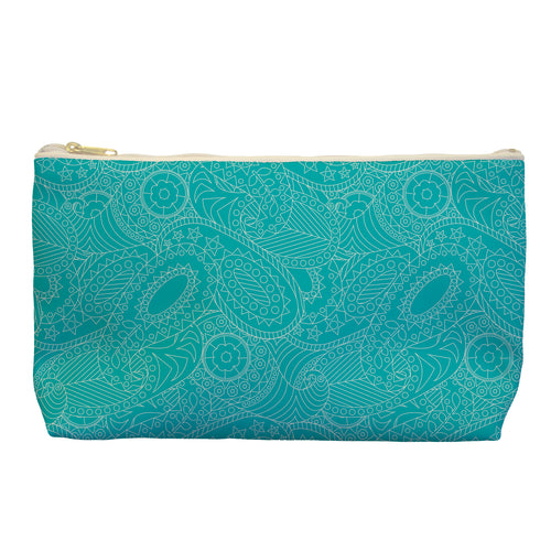 Paisley in Teal - Cosmetic Bag - Art By Catherine Davis