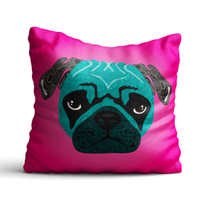 Stanley The Pug - Cushion - Art By Catherine Davis