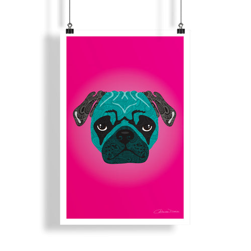 Stanley The Pug - Poster - Art By Catherine Davis
