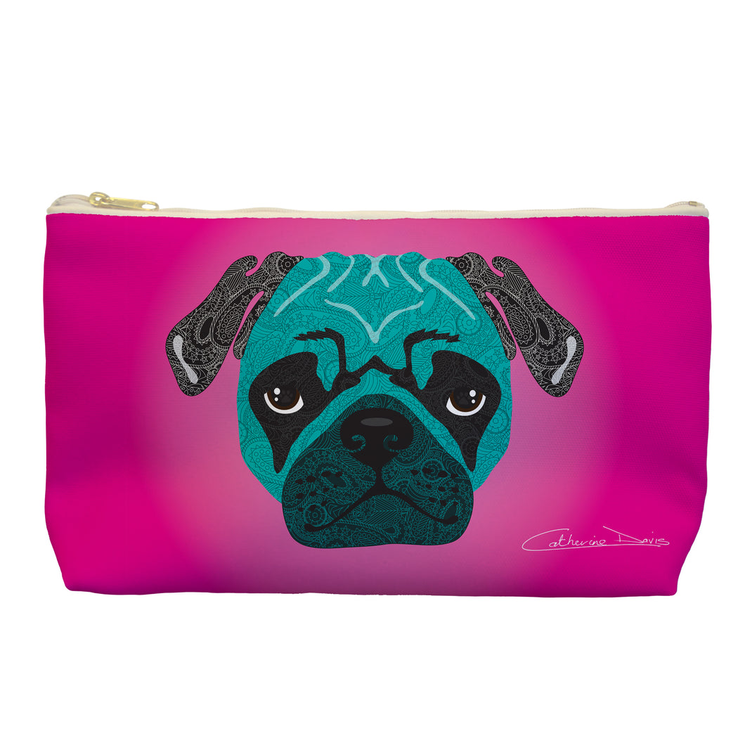 Stanley The Pug - Cosmetic Bag - Art By Catherine Davis