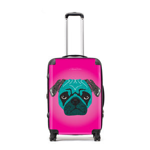 Stanley The Pug - Suitcases - Art By Catherine Davis
